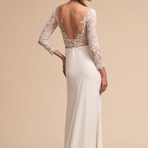 BHLDN Dresses - BHLDN Langston Wedding Gown Long Sleeve Sz 6 12 16